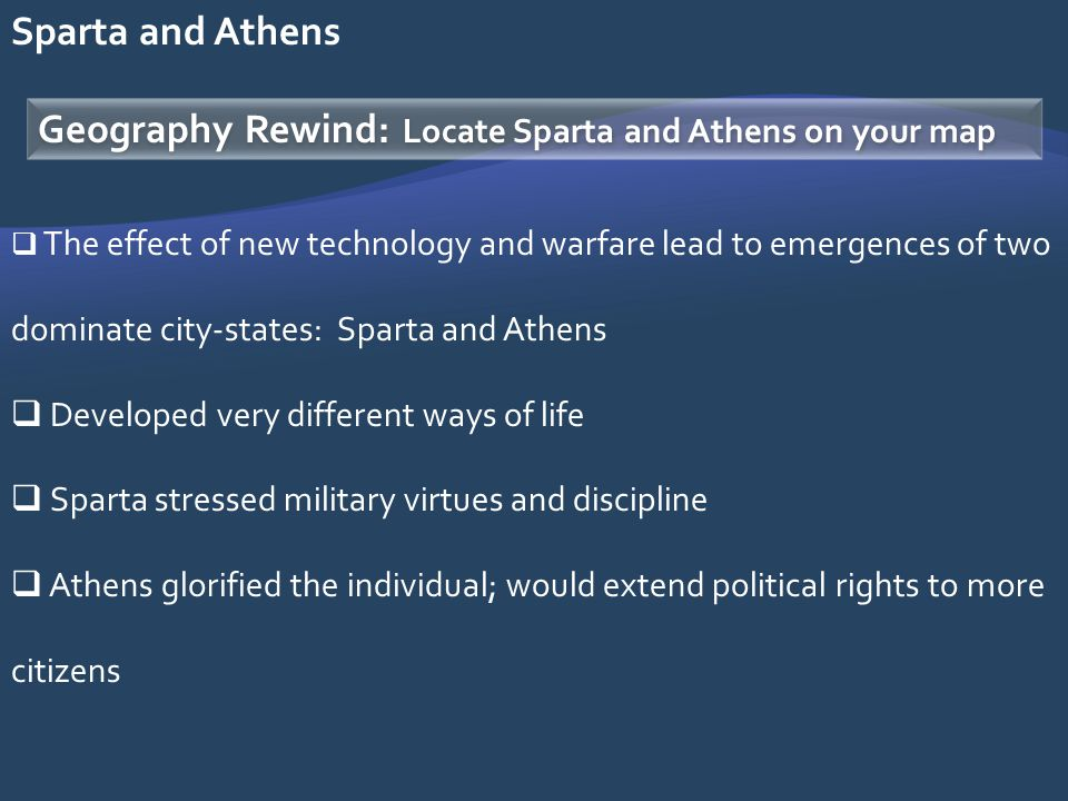Geography Rewind: Locate Sparta and Athens on your map