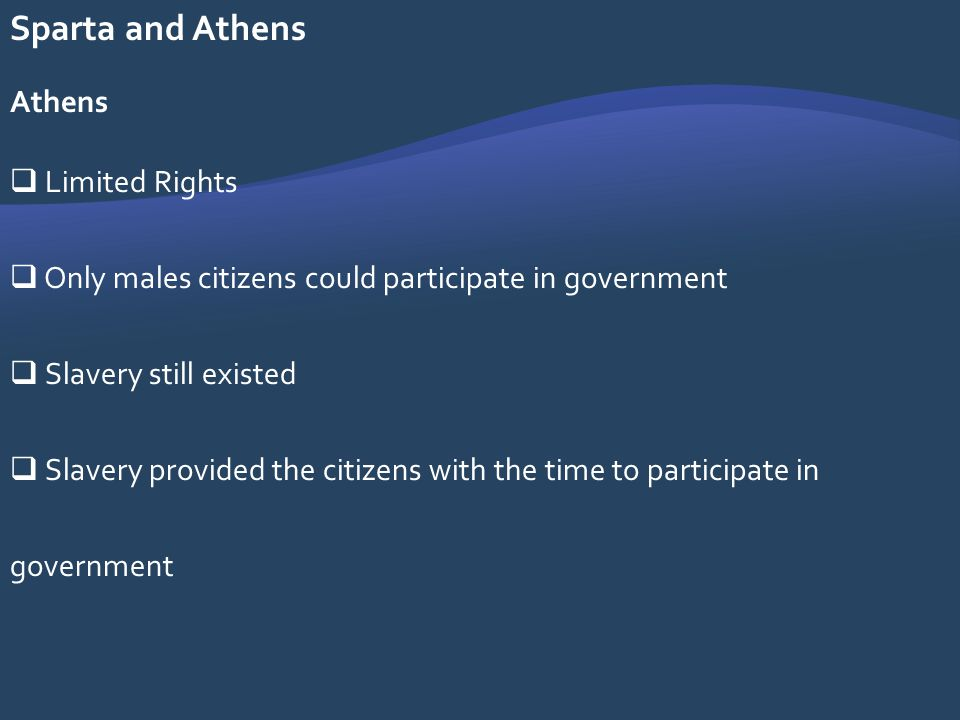 Sparta and Athens Athens Limited Rights