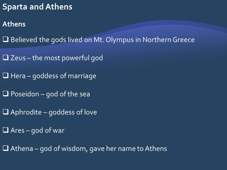 Sparta and Athens Athens
