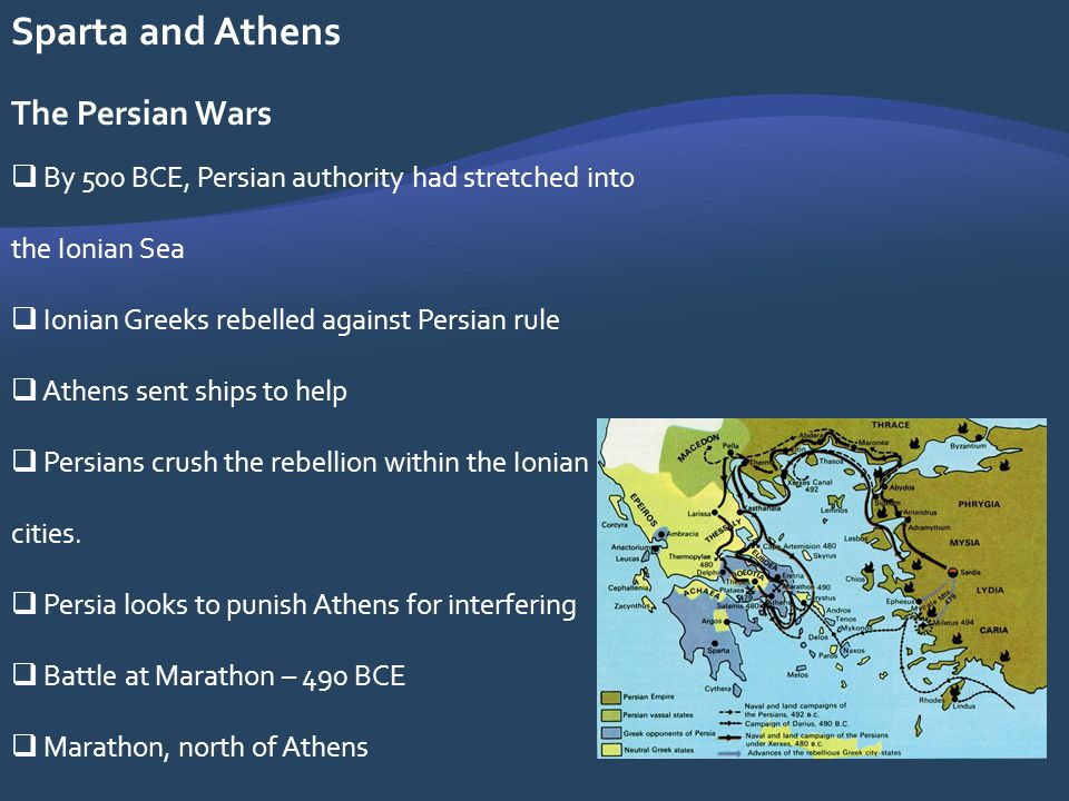 Sparta and Athens The Persian Wars