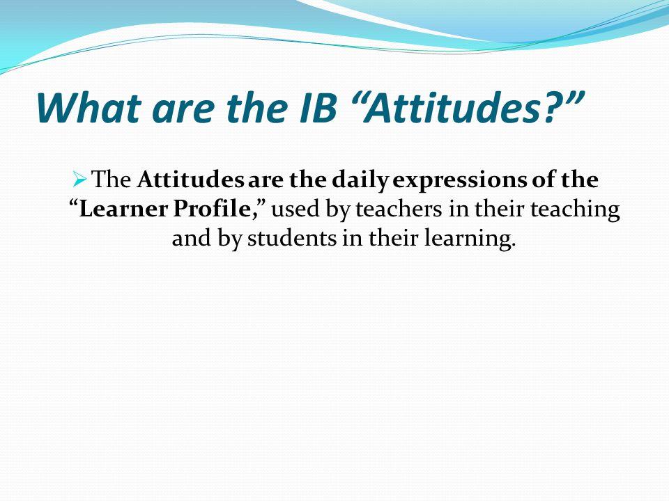 What are the IB Attitudes
