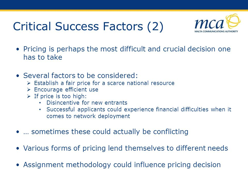 Critical Success Factors (2)