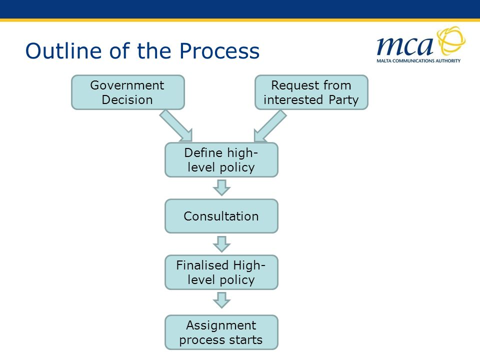 Outline of the Process Government Decision