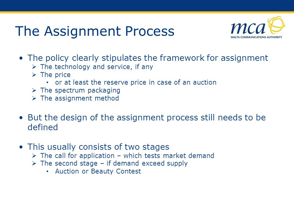 The Assignment Process
