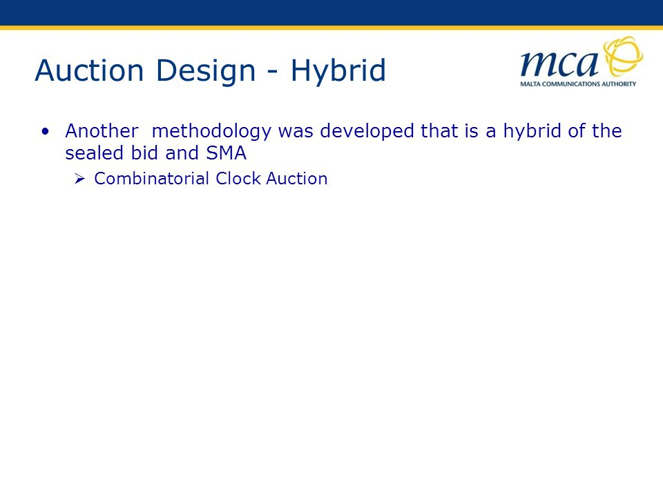 Auction Design - Hybrid
