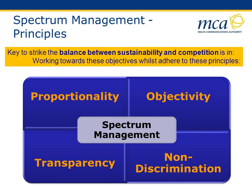 Spectrum Management - Principles