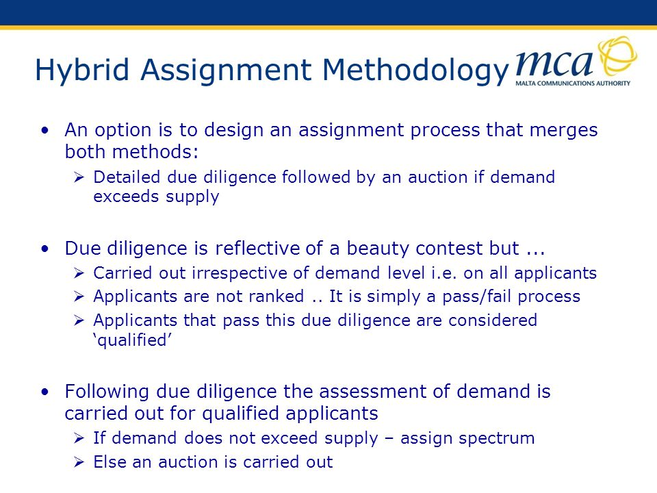 Hybrid Assignment Methodology