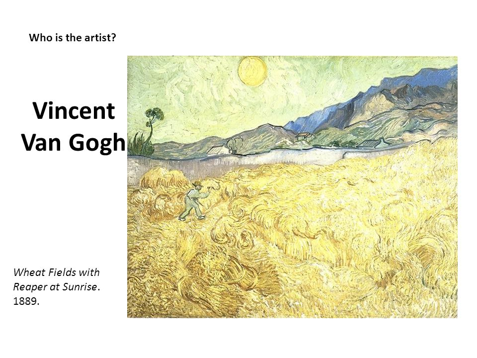 Vincent Van Gogh Who is the artist