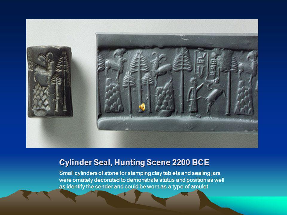 Cylinder Seal, Hunting Scene 2200 BCE