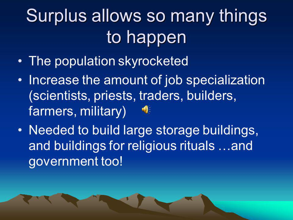 Surplus allows so many things to happen
