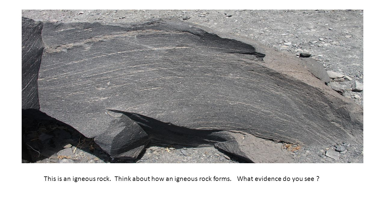 This is an igneous rock. Think about how an igneous rock forms