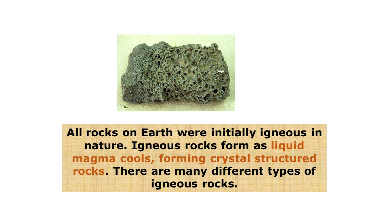All rocks on Earth were initially igneous in nature