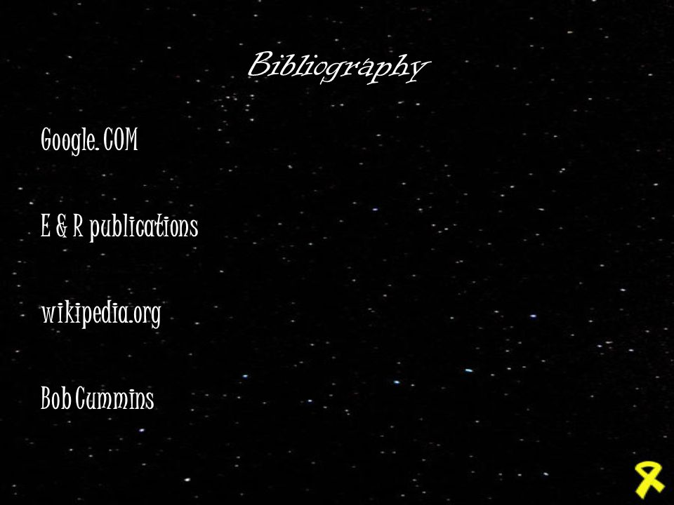 Bibliography Google. COM E & R publications wikipedia.org Bob Cummins
