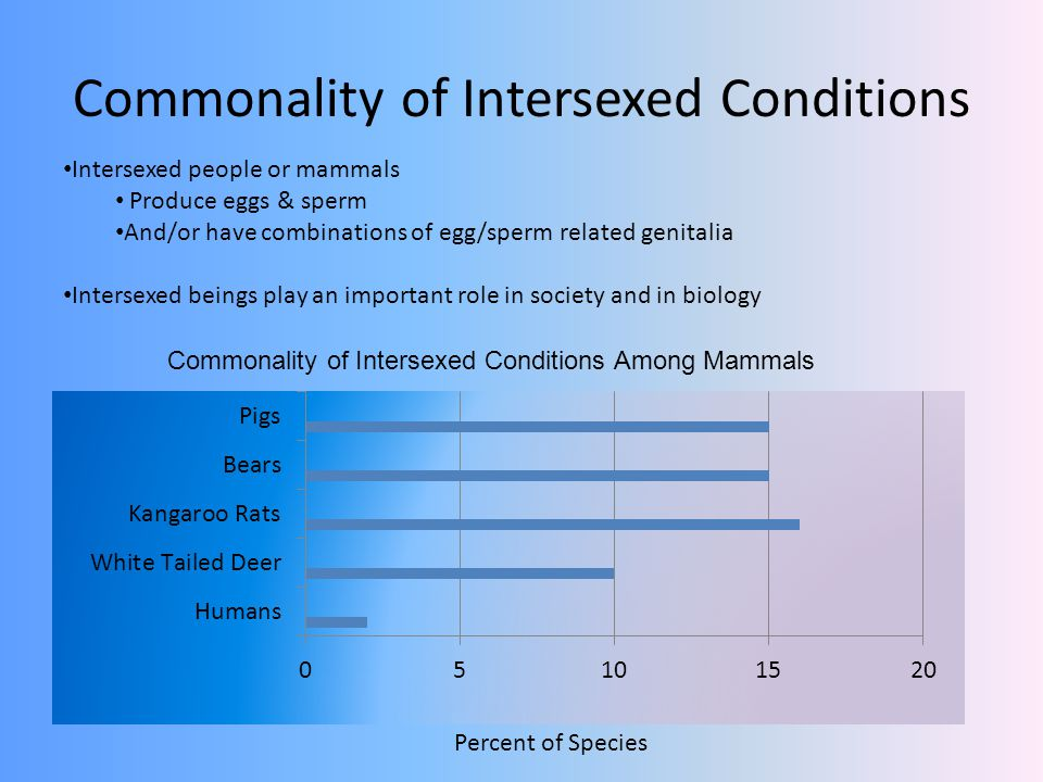 Commonality of Intersexed Conditions