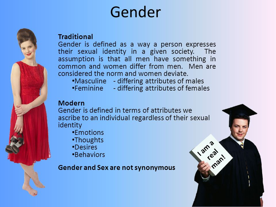Gender Traditional.