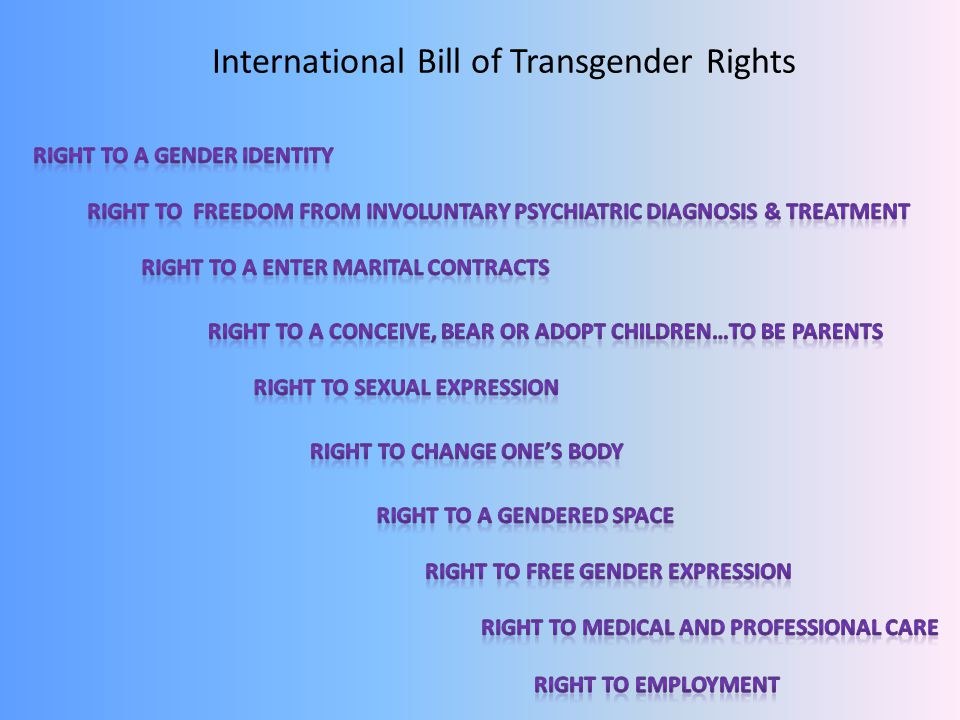 International Bill of Transgender Rights