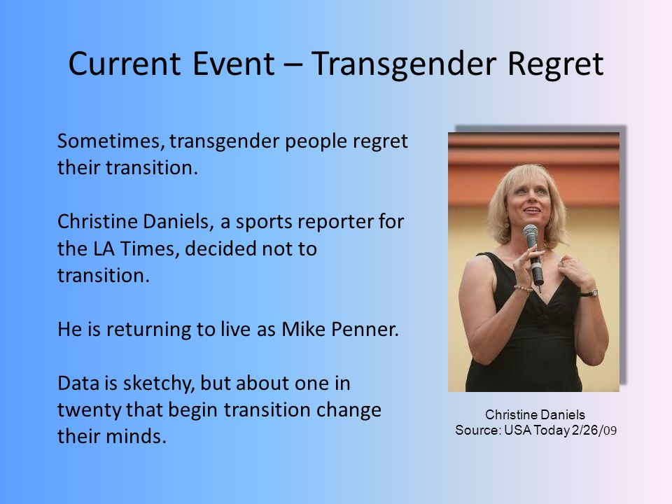 Current Event – Transgender Regret
