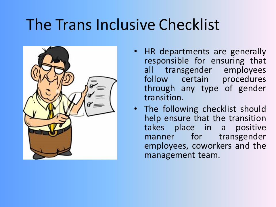 The Trans Inclusive Checklist