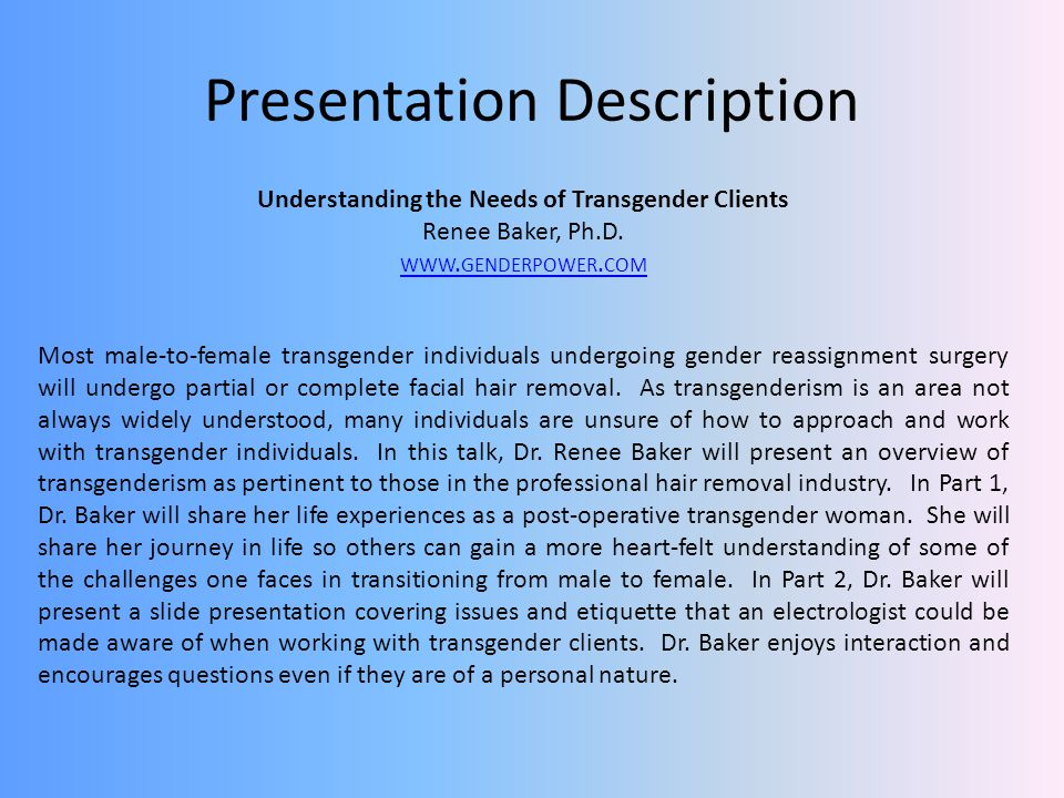 Presentation Description