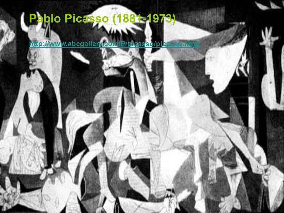 Pablo Picasso (1881-1973) http://www.abcgallery.com/P/picasso/picasso.html