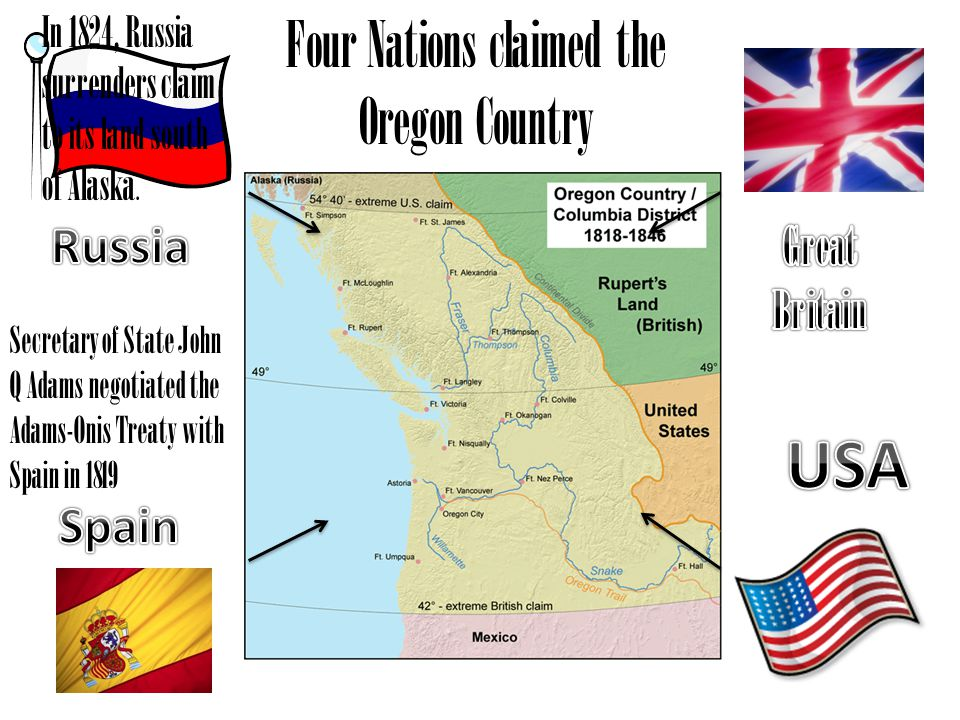 Four Nations claimed the Oregon Country