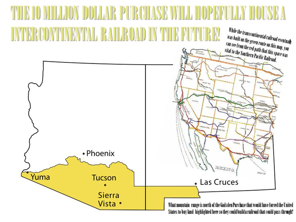 THE 10 MILLION DOLLAR PURCHASE WILL HOPEFULLY HOUSE A INTERCONTINENTAL RAILROAD IN THE FUTURE!