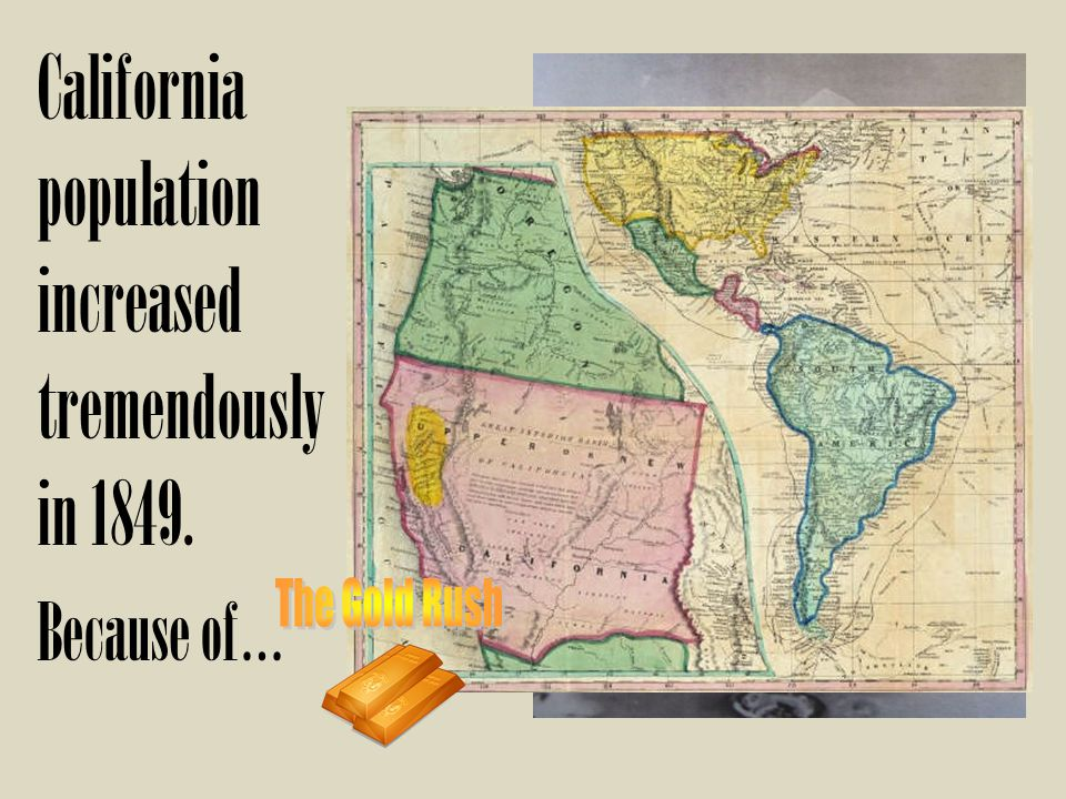 California population increased tremendously in 1849.