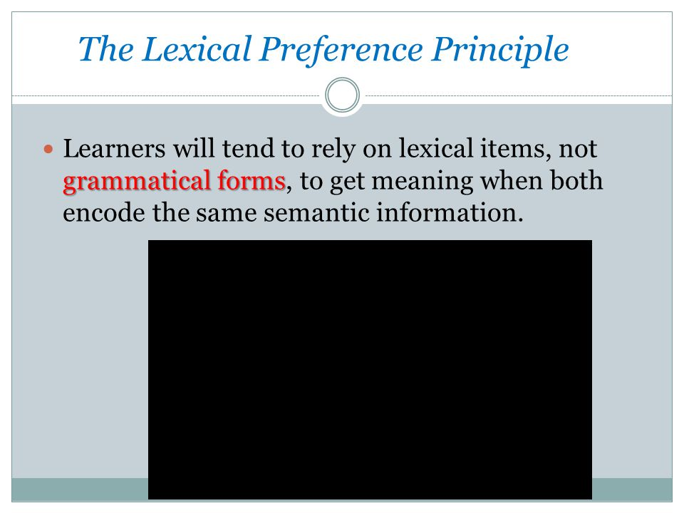 The Lexical Preference Principle