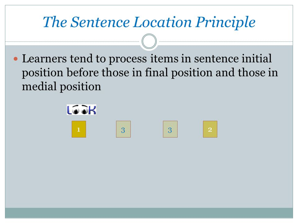 The Sentence Location Principle