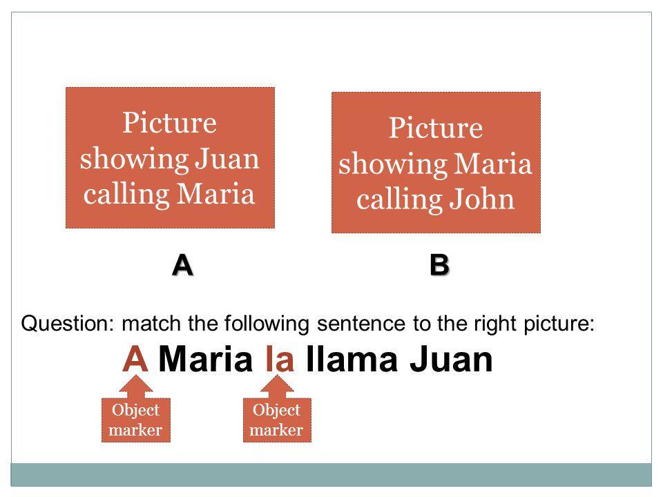 A Maria la llama Juan Picture showing Juan calling Maria