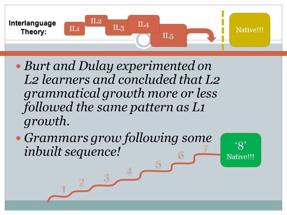 Grammars grow following some inbuilt sequence!