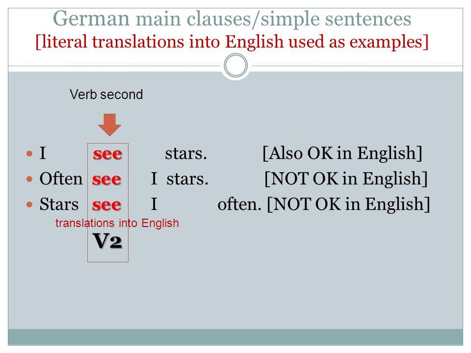 translations into English