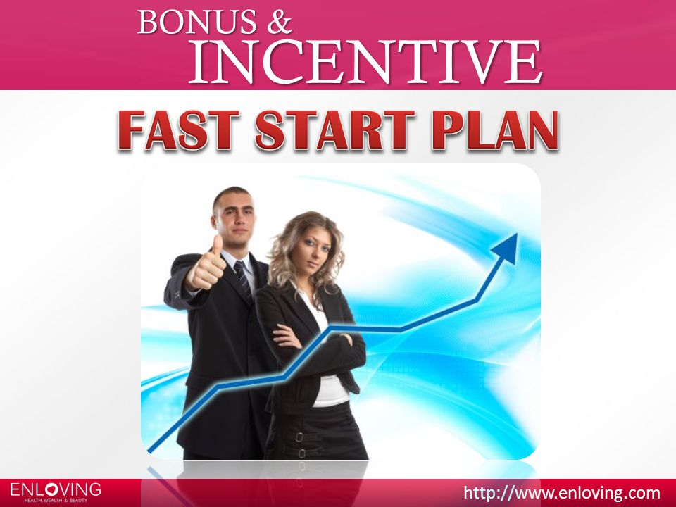 BONUS & INCENTIVE FAST START PLAN