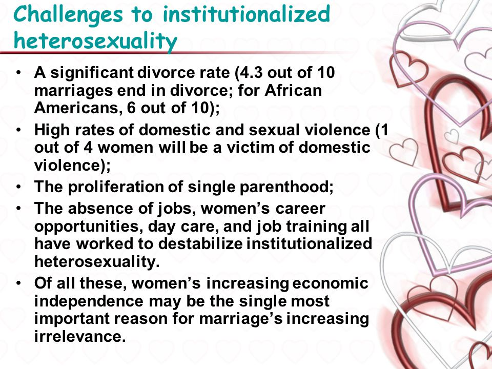 Challenges to institutionalized heterosexuality
