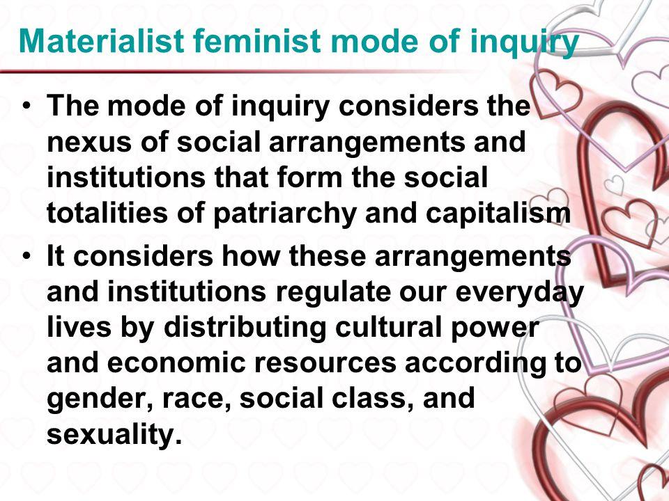 Materialist feminist mode of inquiry