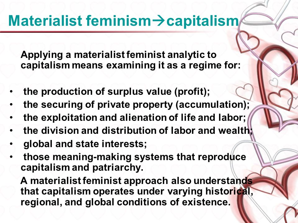 Materialist feminismcapitalism