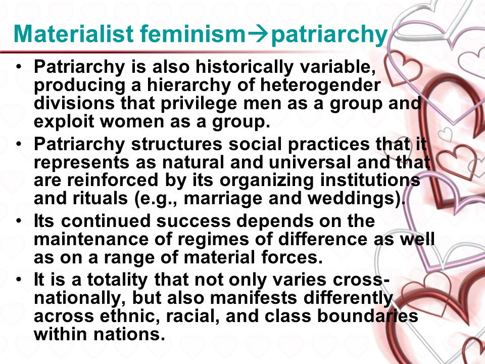Materialist feminismpatriarchy