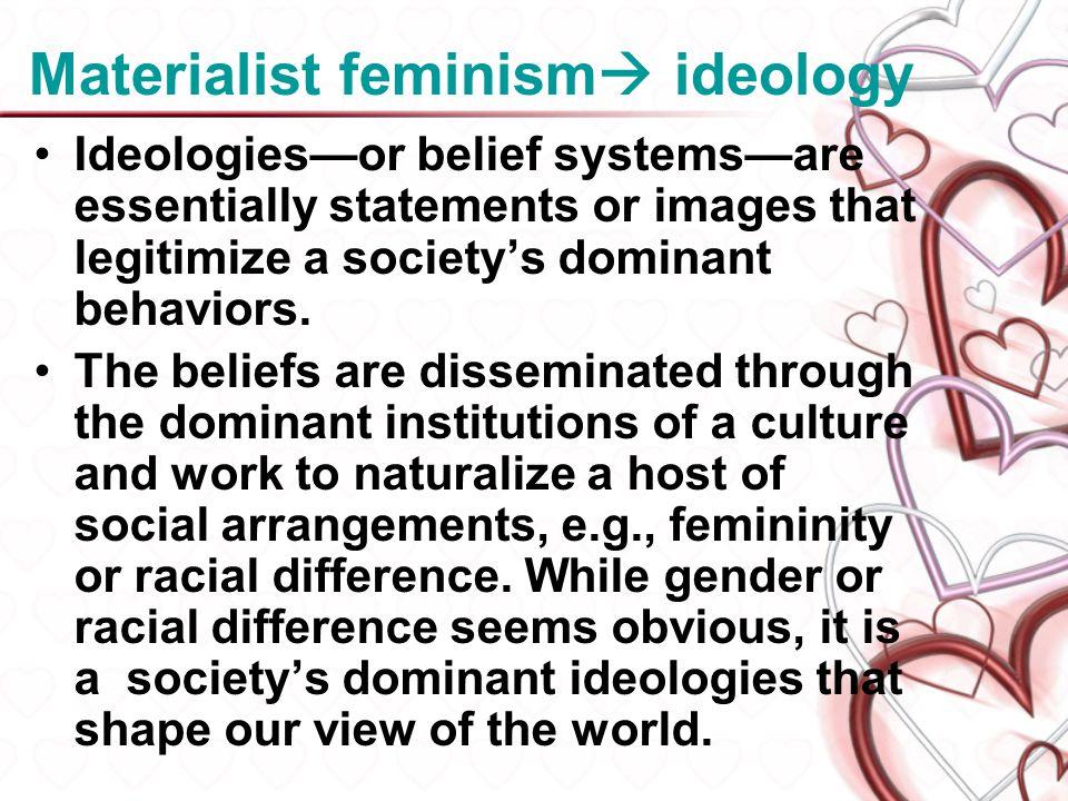 Materialist feminism ideology