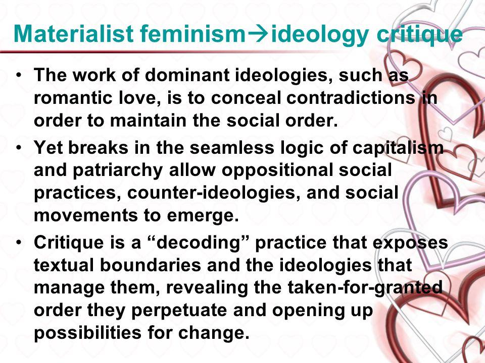 Materialist feminismideology critique