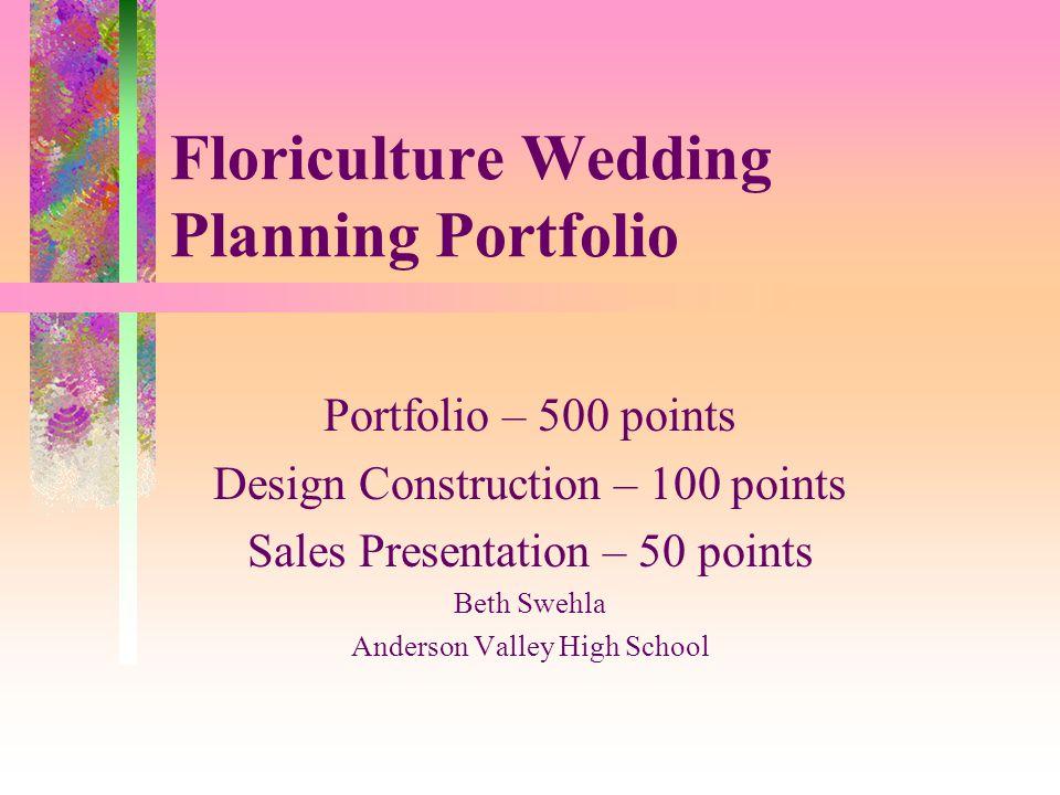 Floriculture Wedding Planning Portfolio