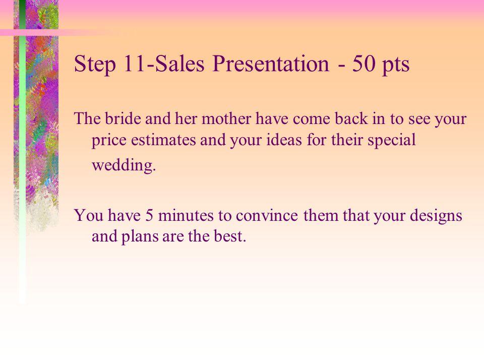 Step 11-Sales Presentation - 50 pts
