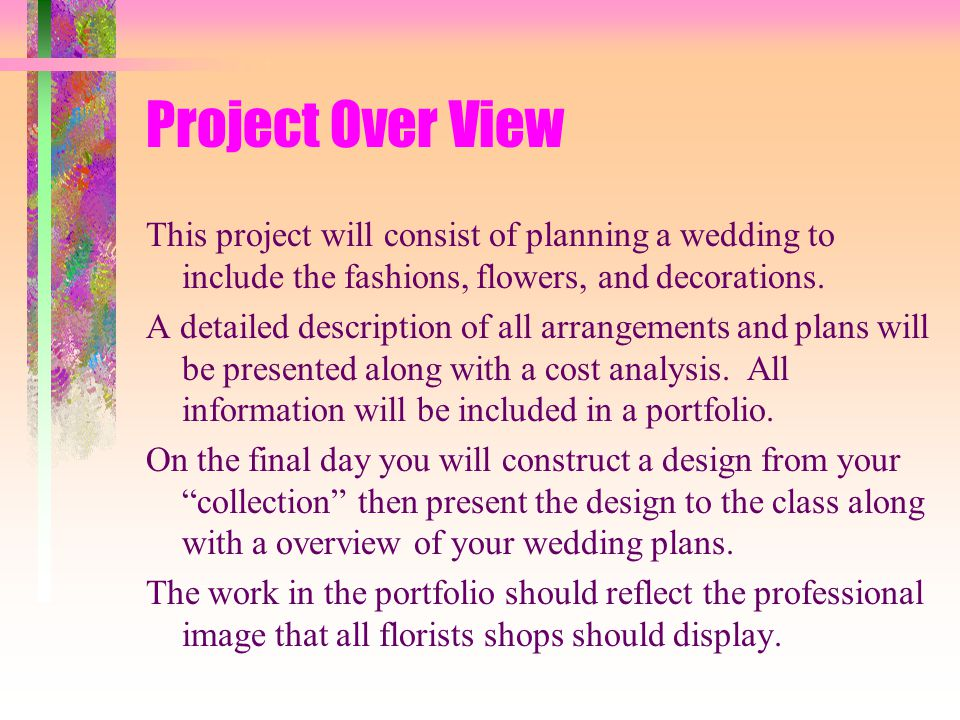 Floriculture Wedding Planning Portfolio  Ppt Video Online Download