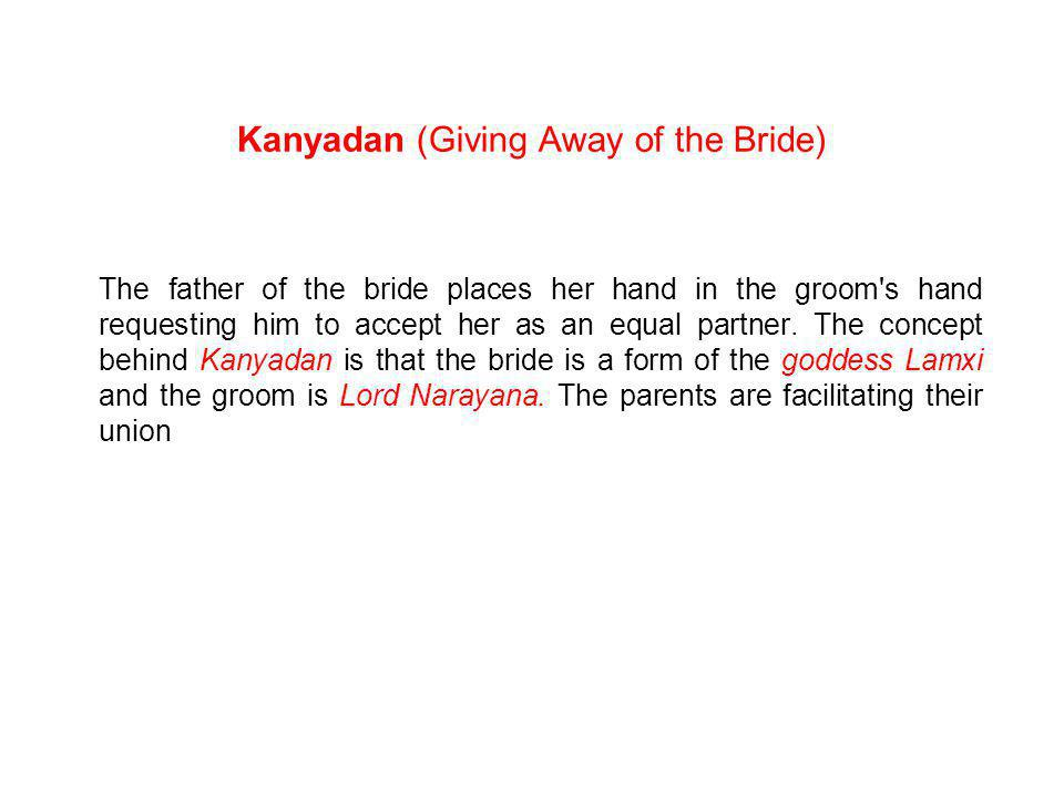 Kanyadan (Giving Away of the Bride)