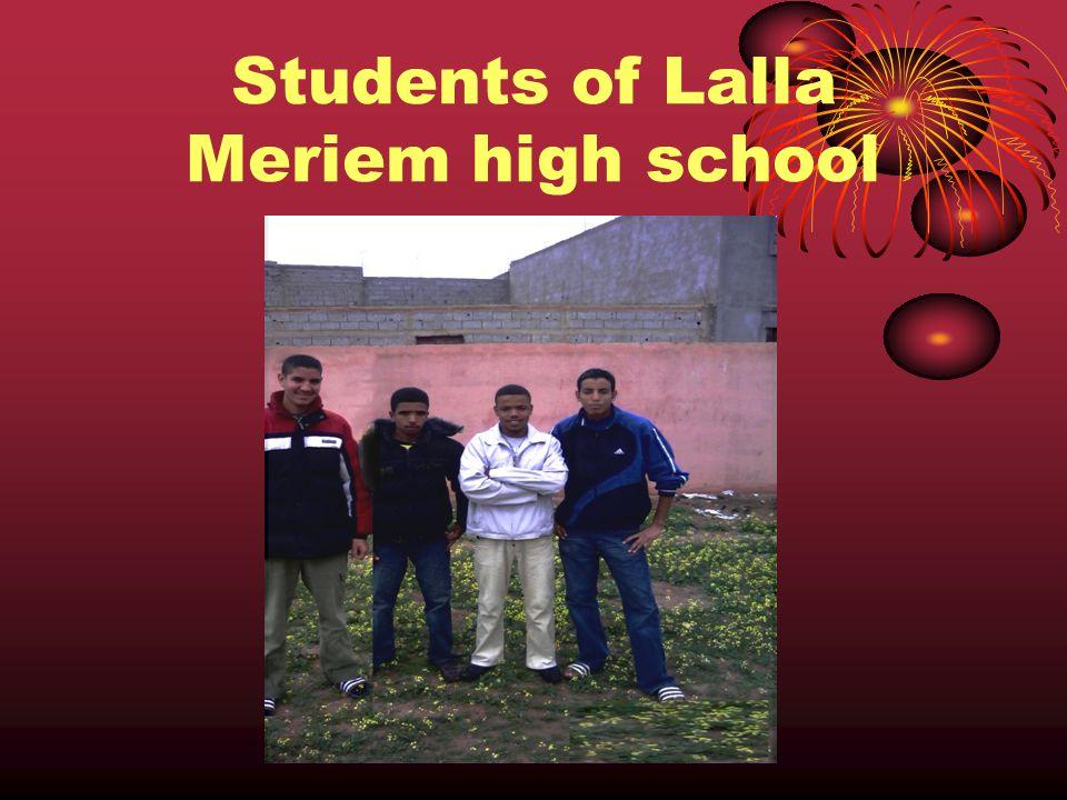 Students of Lalla Meriem high school