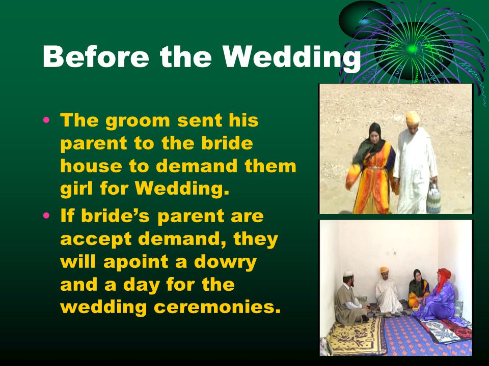 Before the Wedding The groom sent his parent to the bride house to demand them girl for Wedding.