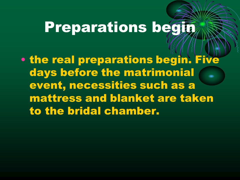 Preparations begin