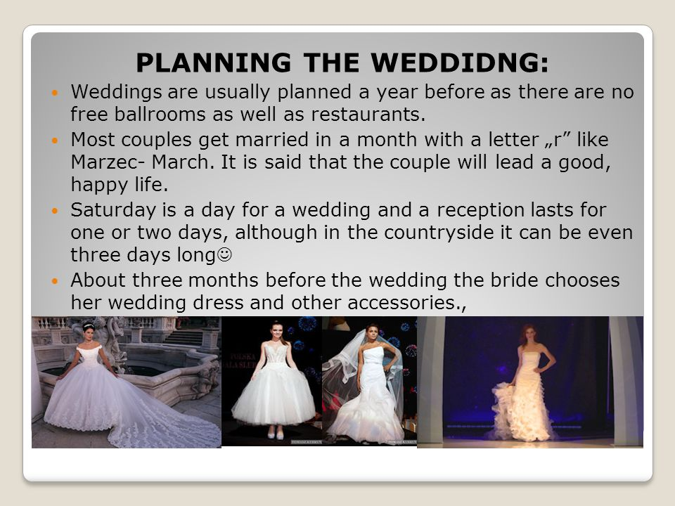 PLANNING THE WEDDIDNG: