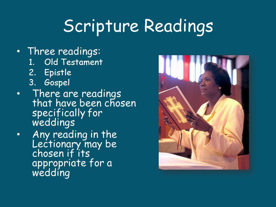Scripture Readings Three readings: