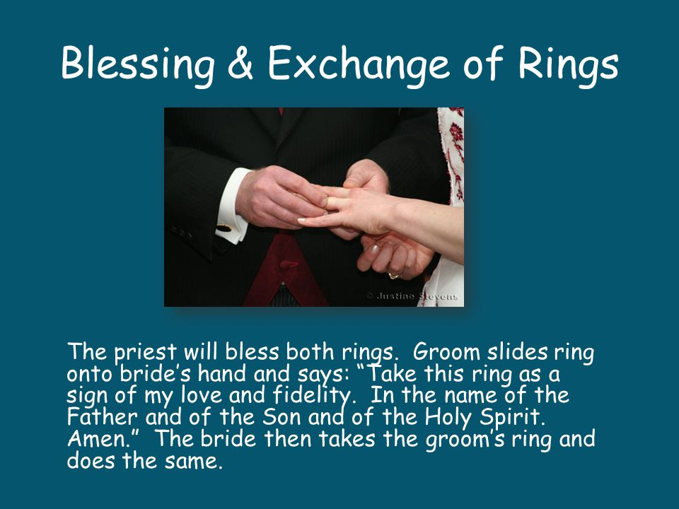 Blessing & Exchange of Rings