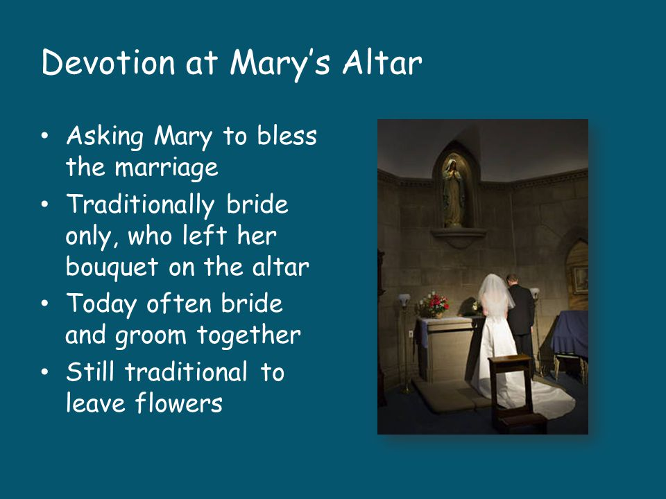 Devotion at Mary's Altar